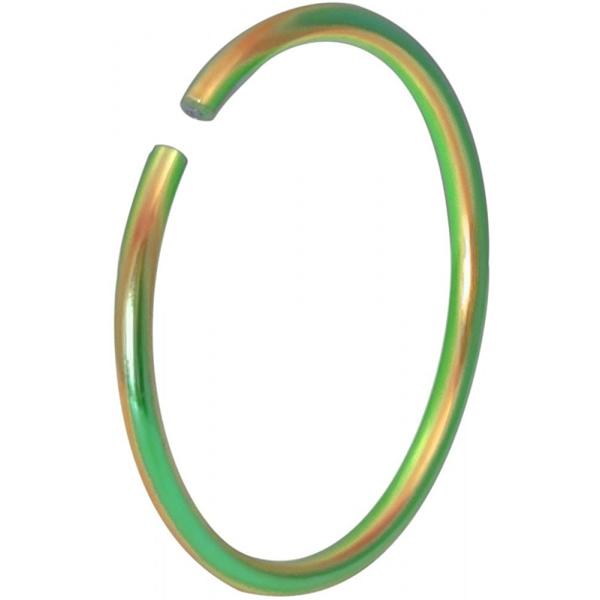 20g Surgical Steel Titanium IP Rainbow 10mm Nose Hoop – Nose Piercing Jewelry, Forbidden Body Jewelry