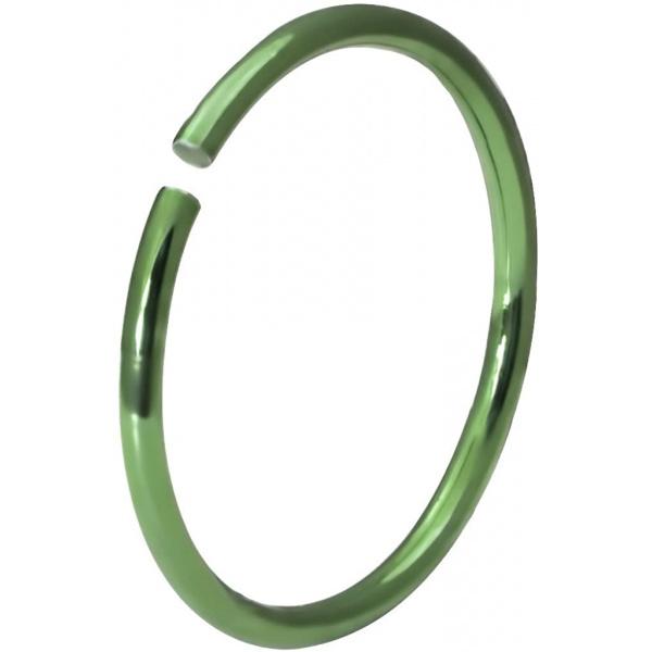 20g Surgical Steel Titanium IP Green 10mm Nose Hoop – Nose Piercing Jewelry, Forbidden Body Jewelry