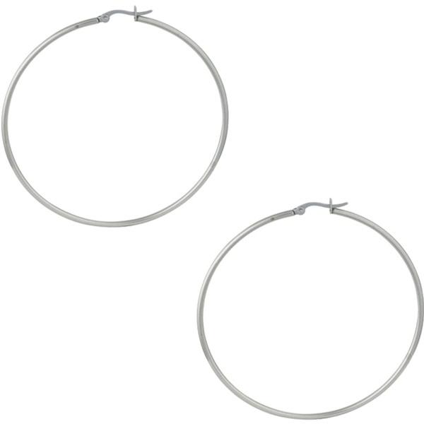 Stainless Steel 2.75″ Hoop Earrings for Women, Forbidden Body Jewelry