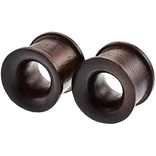 Set Organic Sono Wood Ear Gauges, 10mm – 25mm Double Flared Saddle Tunnel Plug Earrings, Forbidden Body Jewelry