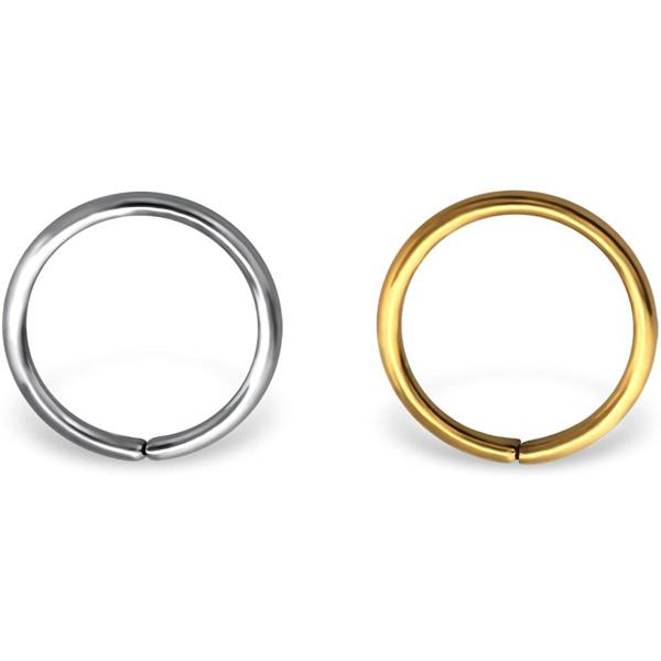 20g 8mm (5/16 Inch) Surgical Steel Nose Piercing Hoop, Forbidden Body Jewelry