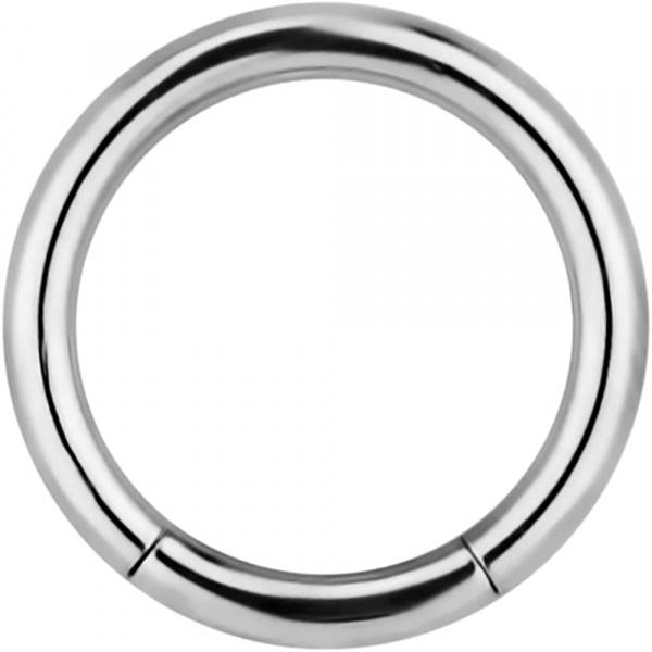 14g 7/16 Inch Surgical Steel Segment Hoop Ring Circular Barbell, Forbidden Body Jewelry