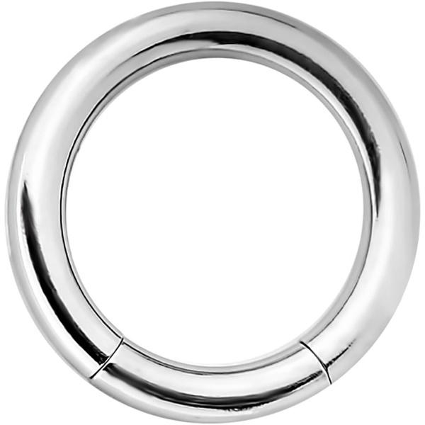 14g 5/16 Inch Surgical Steel Segment Hoop Ring Circular Barbell, Forbidden Body Jewelry