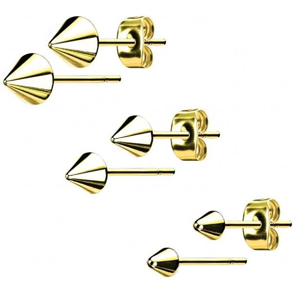 316L Surgical Steel Spike Stud Earrings, Forbidden Body Jewelry