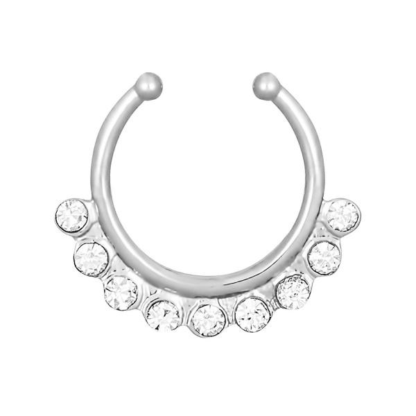 Multi Gem Septum Clip, Forbidden Body Jewelry