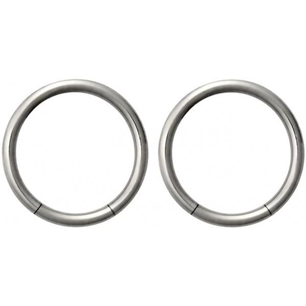 Set of 14g 3/8 Inch Surgical Steel Seamless Segment Hoop Piercing Rings, Forbidden Body Jewelry