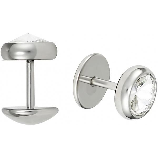 16g 8mm Surgical Steel Crystal Cheater Plug Earrings, Fake 0 Gauge Earrings, Forbidden Body Jewelry