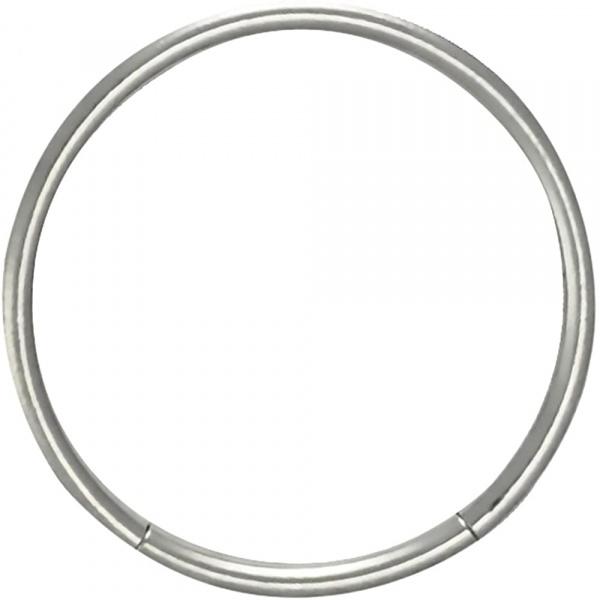 18g 1/2 Inch Surgical Steel Seamless Segment Hoop Piercing Ring, Forbidden Body Jewelry