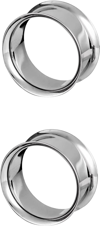 8mm-25mm 316L Surgical Steel Tribal Ear weights Saddle Hanger Spreader Gauges Piercing Tunnels Plugs